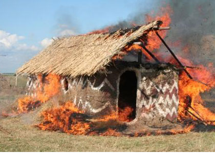 Burning Hut