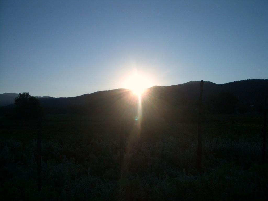 Sunrise over Taos Mountain, New Mexico