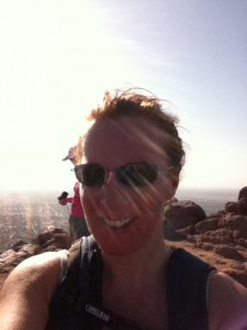 Karen Talavera at the summit of Camelback