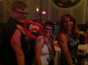 Sporting our WDS 2012 tattoos at the closing festivities